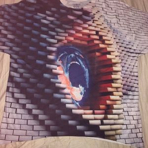 3d pink floyd the wall xlarge tshirt